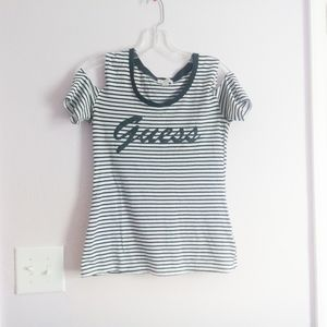 ❤SALE❤Guess Black and White Striped Shirt